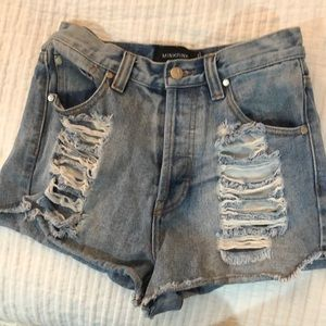 Cutoff Denim Jean Shorts